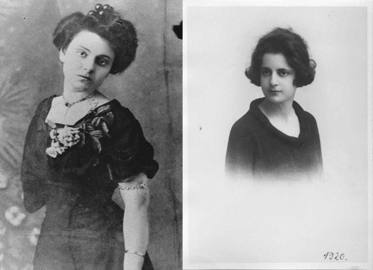 Φωτογραφία της Γαλάτειας Αλεξίου (αριστερά) και της Ελένης Σαμίου (δεξιά)